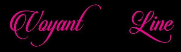 Logo voyantonline rose et noir